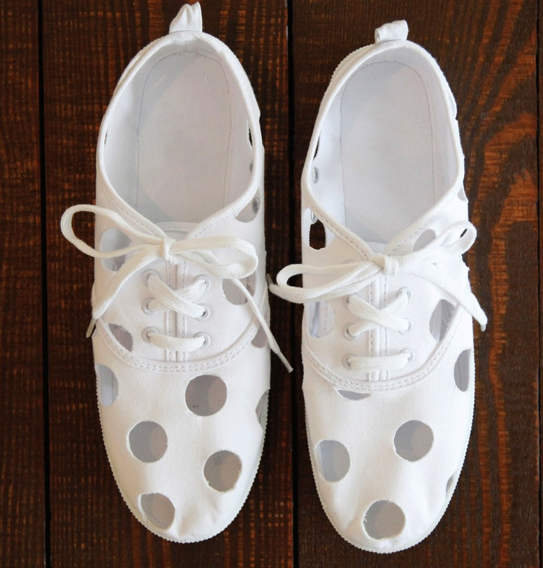 cut out sneakers