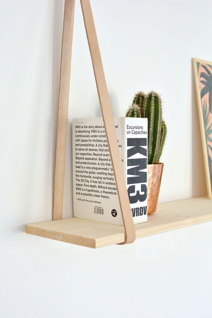 leather bookshelf