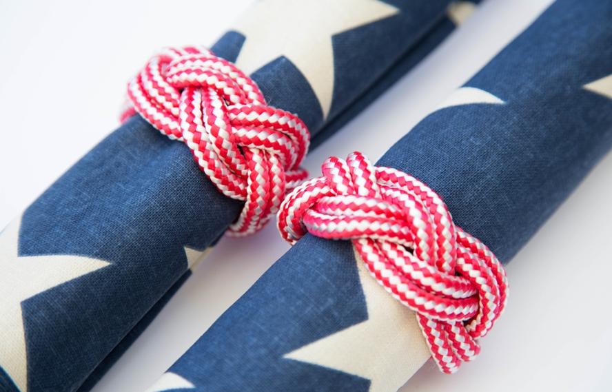 nautical rope napkin ring