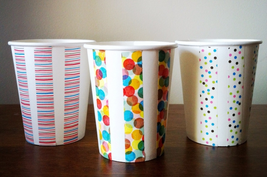 patterned paper cups