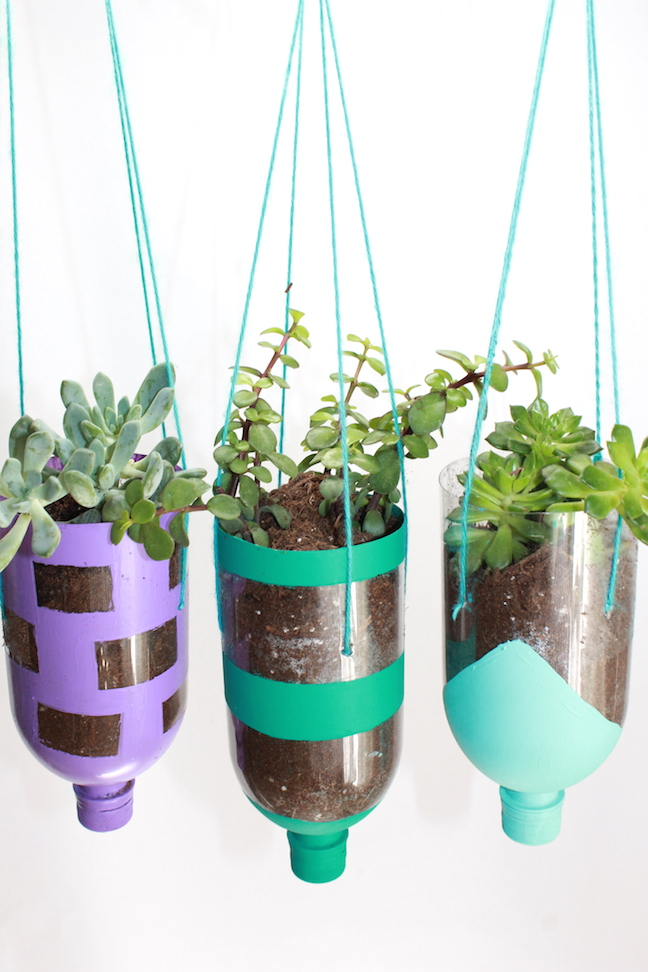 plastic bottle hanging planters