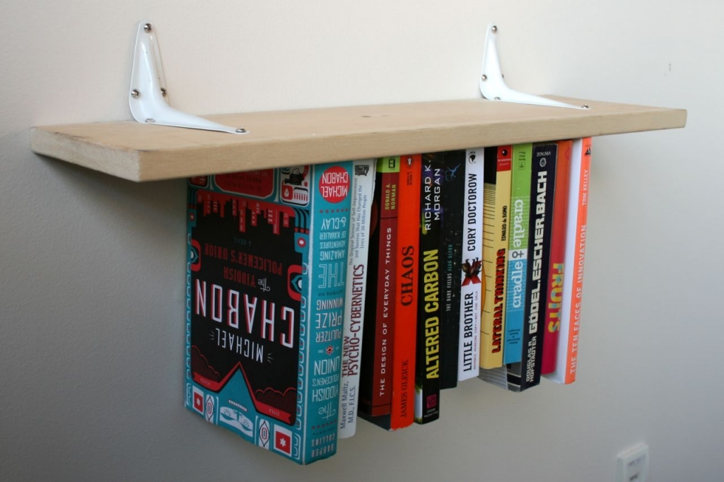 upside down bookshelf