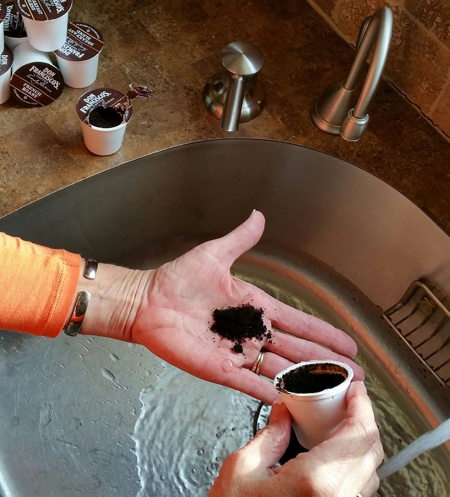 Coffee Grounds to Hand Exfoliate