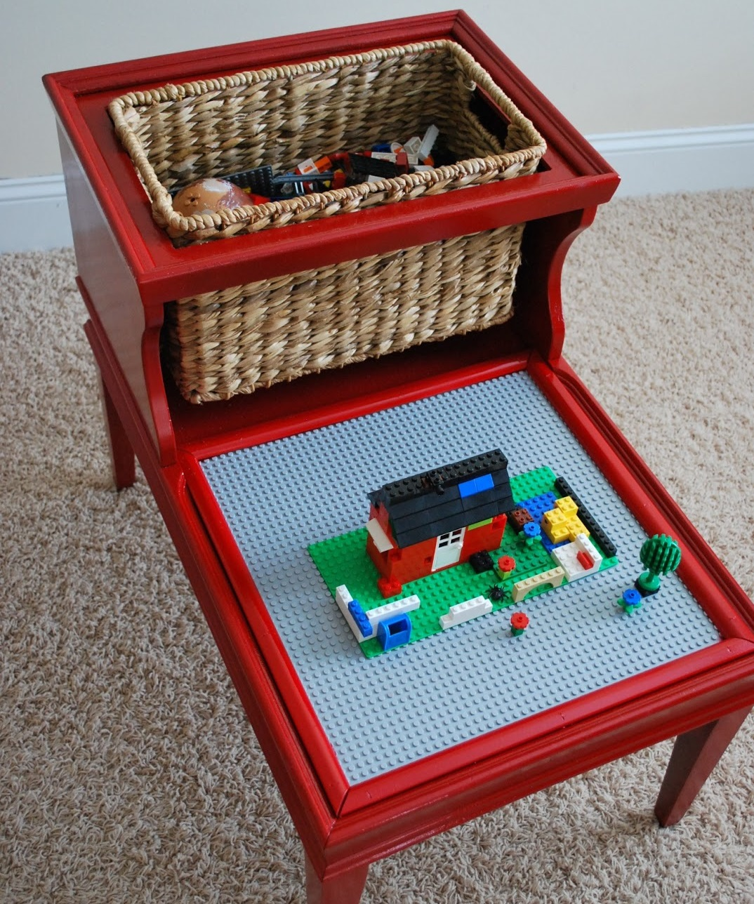 Dual-Level Table to Lego Stand