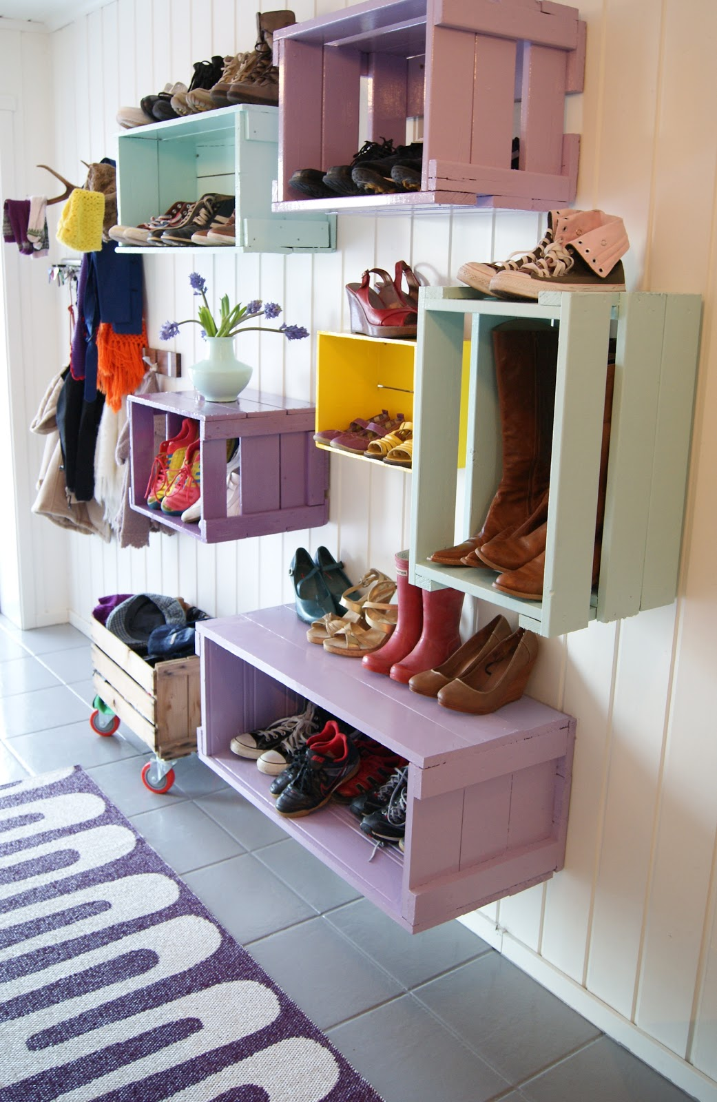 Wooden Crates to Eccentric Shelving
