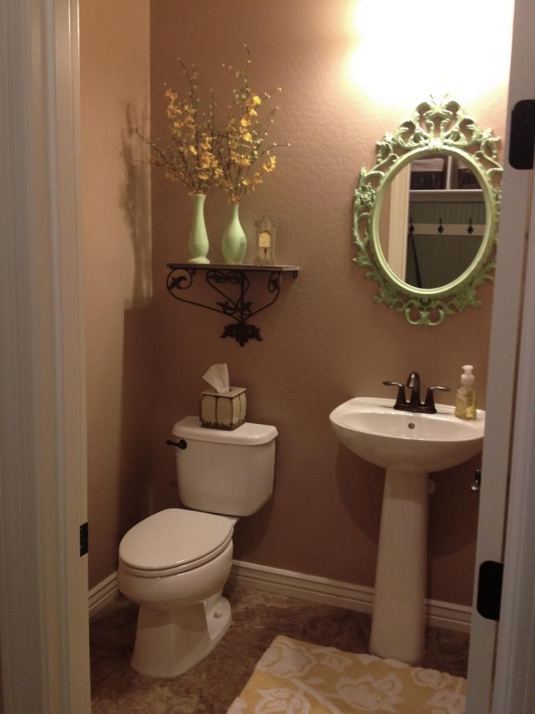 beige bathroom before