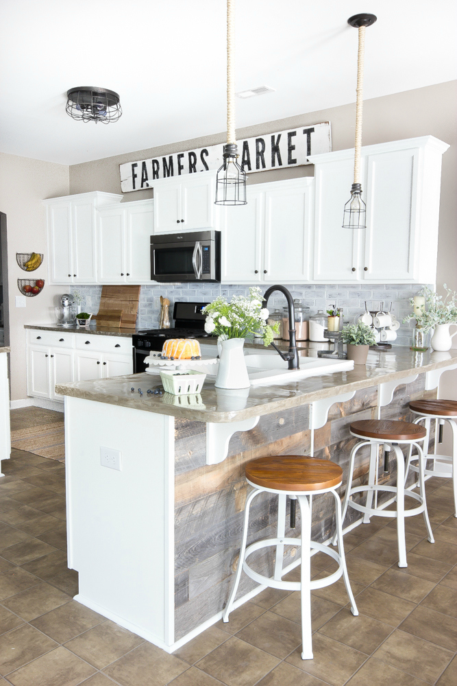 modern farmhouse kitchen after