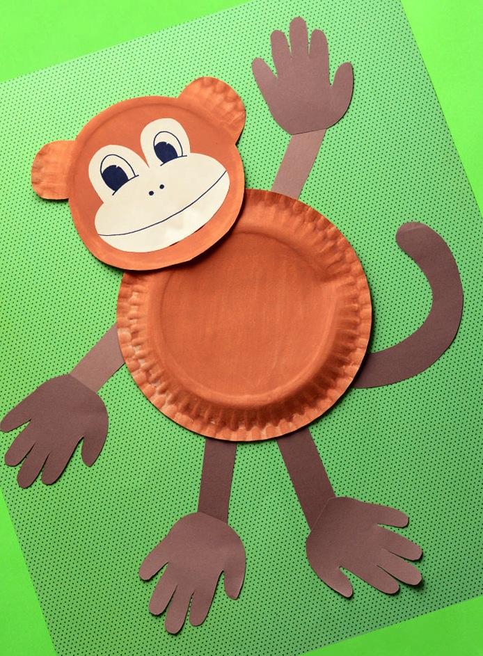 paper plate monkey