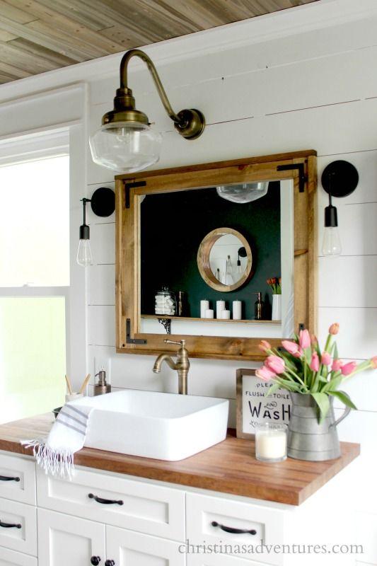 Cabin style bathroom