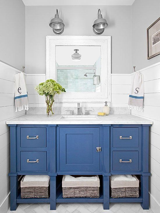 Cobalt bathroom