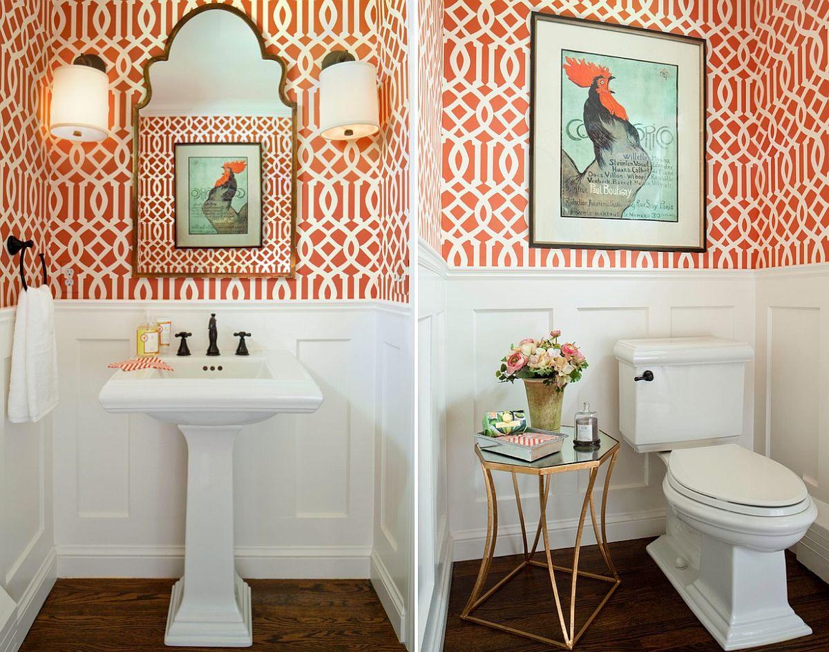 Orange bathroom