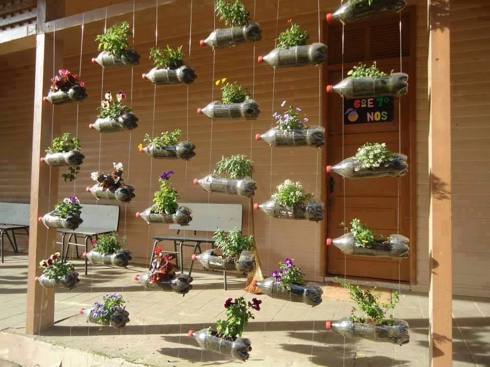 Soda Bottle Vertical Garden