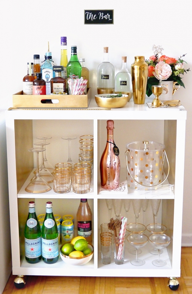 Well Stocked Bar Cart