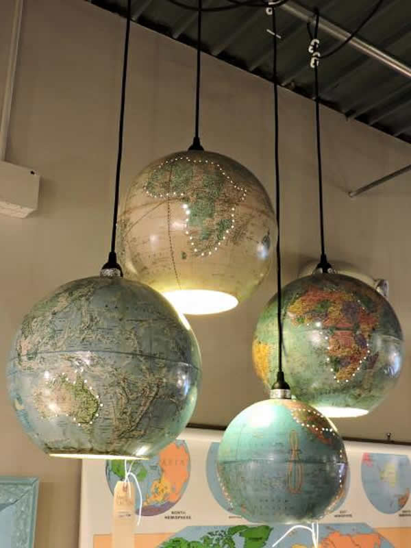 Make cool lights out of old globes