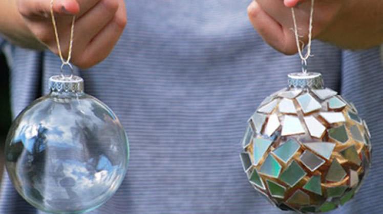 broken cd into new christmas bulb