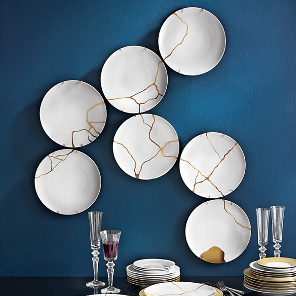 cracked plates for contemporary art