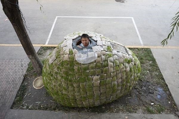 Sidewalk egg house