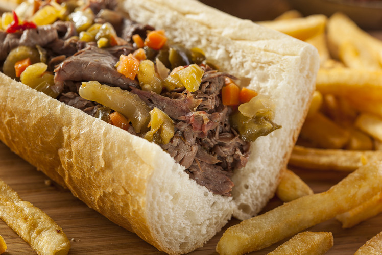 Eat an Italian Beef Sandwich at Portillo's