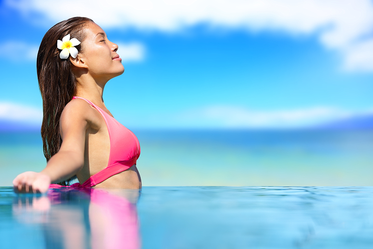 Kalani Oceanside, Hawaii yoga in the ocean