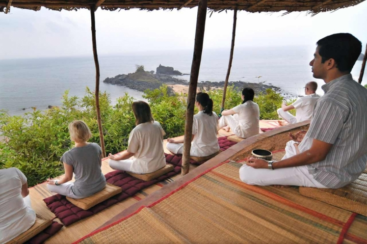 Yoga retreat in SwaSwara, India