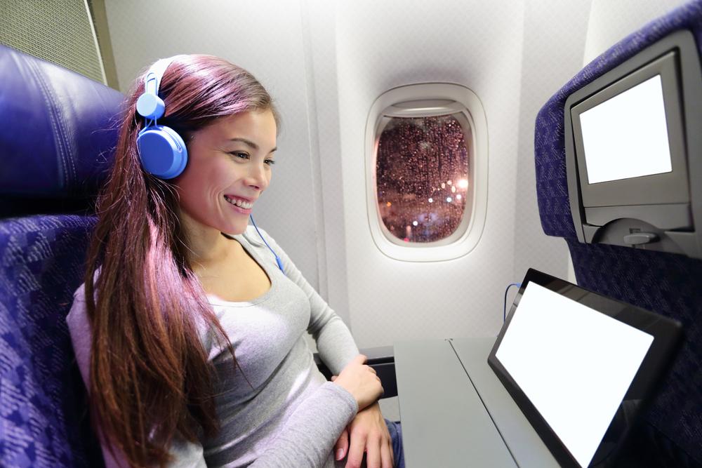 earphone, flight