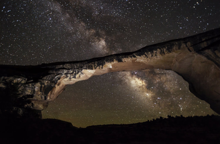 Best Places to Stargaze in the US Natural Bridges National Monument, Utah