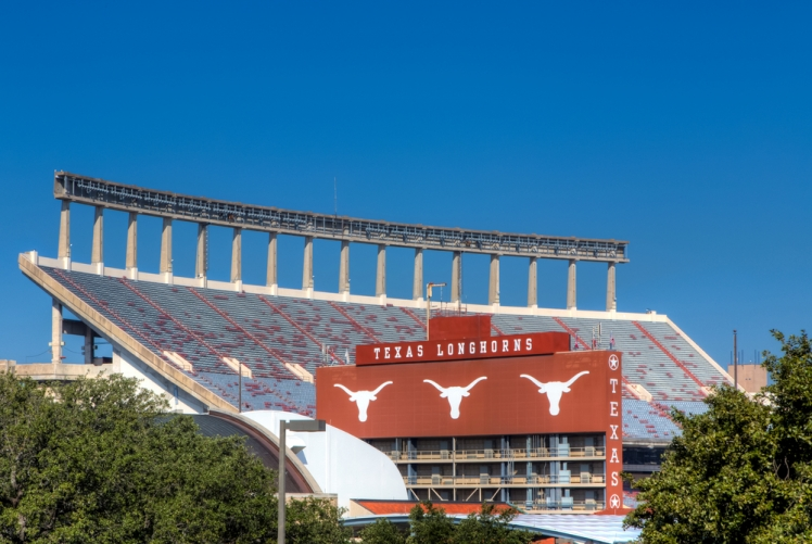 Go tailgating at a University of Texas home football game