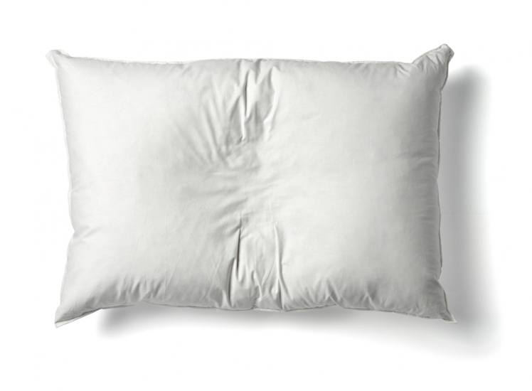 With a pillow