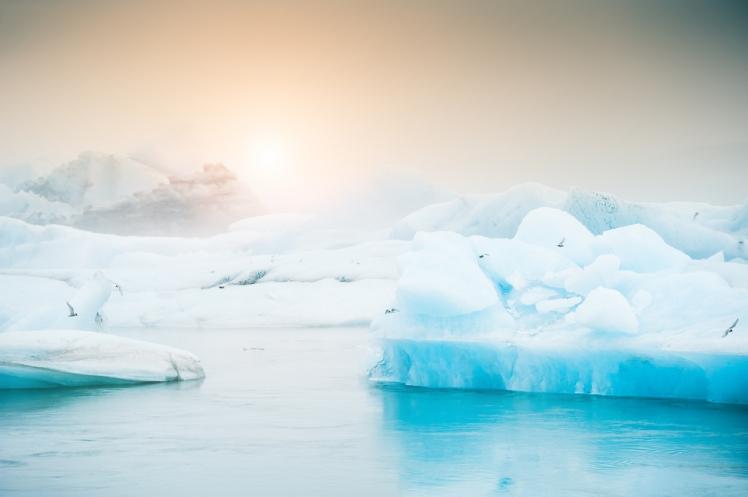 Jokulsarlon Glacier on the South Coast