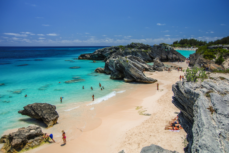 Bermuda-pink sand beach
