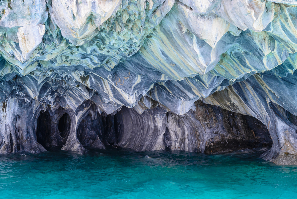 Chile Aysen beautiful marble caves