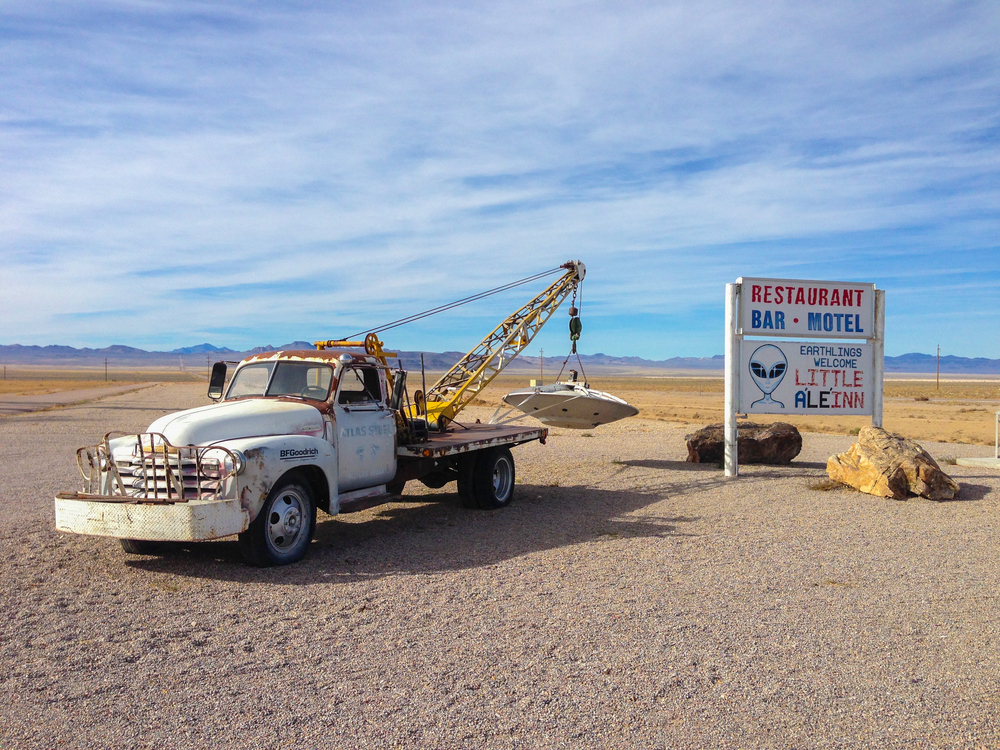 Rachel tow truck, Nevada