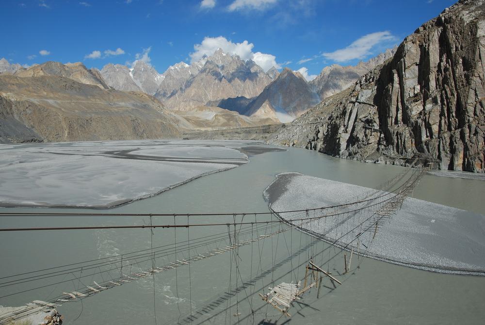 Cross a Dangerous Suspension Bridge, Pakistan