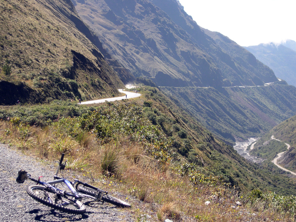 Cycle Along the Death Road, Bolivia