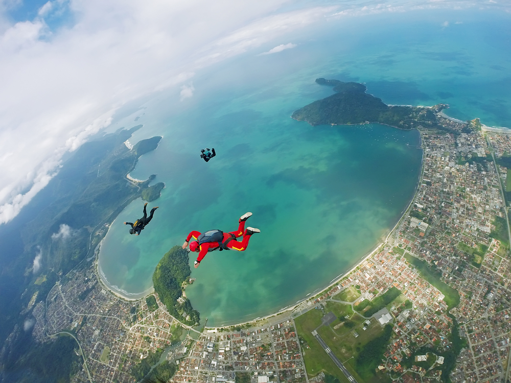 view from sky dive