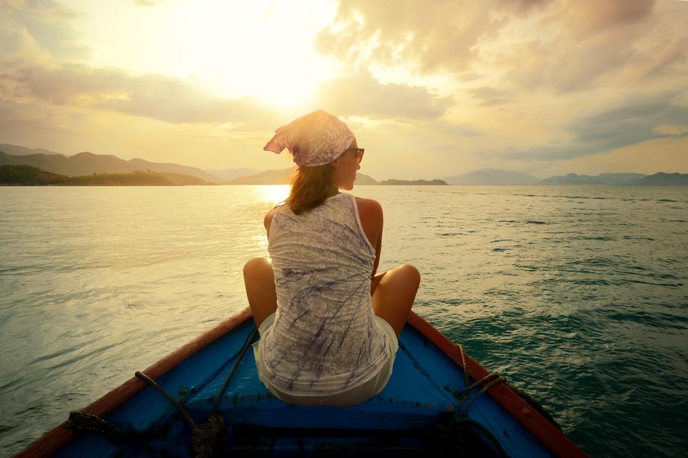solo traveler on boat