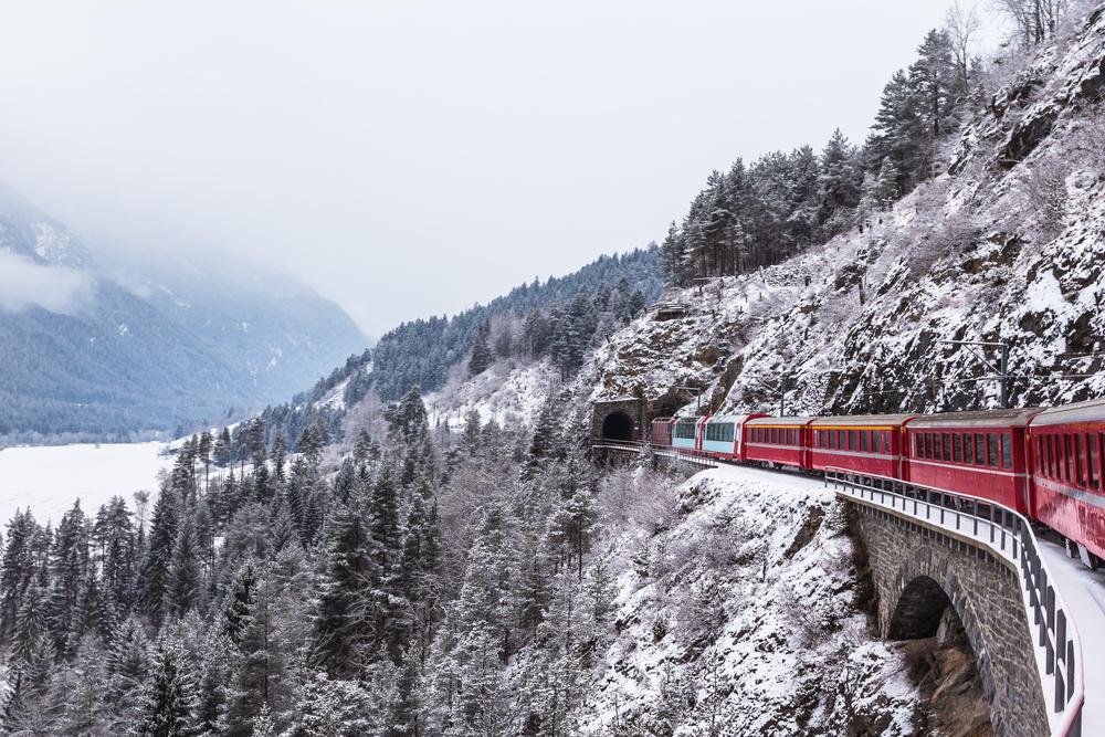 Glacier Express from Zermatt to St Moritz