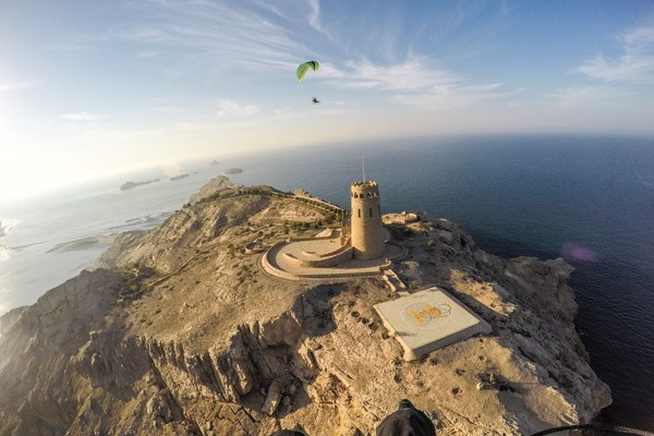 By Air- Paraglide Over Oman
