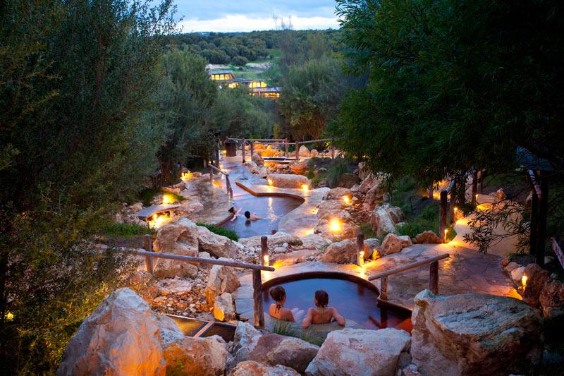 Relax in the Peninsula Hot Springs in the Mornington Peninsula