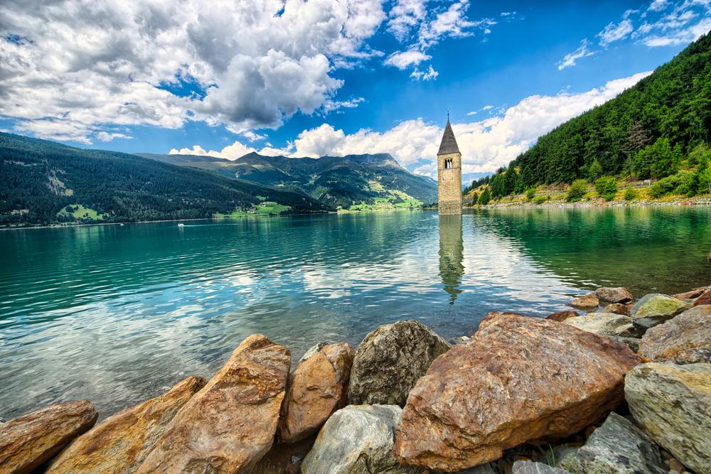 25. Graun Church Tower, Lake Resia, South Tyrol